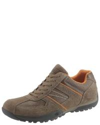 graue Wildleder niedrige Sneakers von Dockers by Gerli
