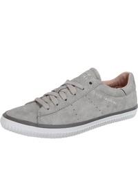 graue Wildleder niedrige Sneakers von Esprit