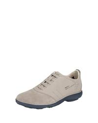 graue Wildleder niedrige Sneakers von Geox