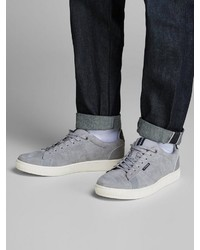 graue Wildleder niedrige Sneakers von Jack & Jones