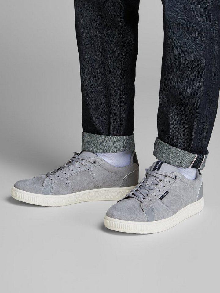 graue Wildleder niedrige Sneakers von Jack & Jones