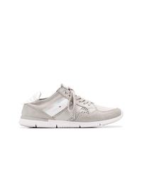 graue Wildleder niedrige Sneakers von Tommy Hilfiger