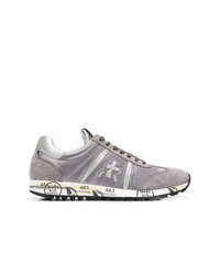 graue Wildleder niedrige Sneakers von White Premiata