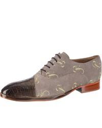 graue Wildleder Oxford Schuhe von Melvin&Hamilton
