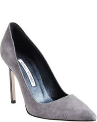 Graue Wildleder Pumps