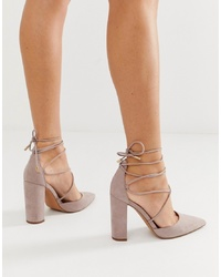 graue Wildleder Pumps von ASOS DESIGN