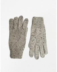 graue Wollhandschuhe von Asos