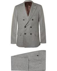 grauer Anzug mit Hahnentritt-Muster
