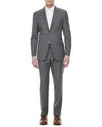 grauer Anzug mit Karomuster