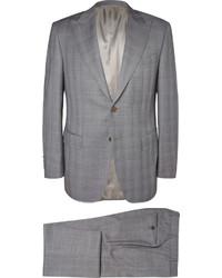 grauer Anzug mit Karomuster von Canali