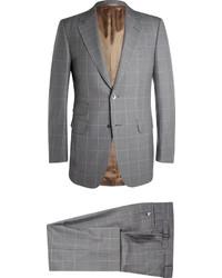 grauer Anzug mit Karomuster von Dunhill