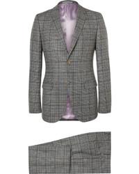 grauer Anzug mit Karomuster von Gucci