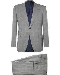 grauer Anzug mit Karomuster von Huntsman