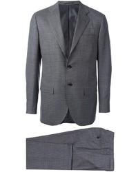 grauer Anzug mit Karomuster von Kiton