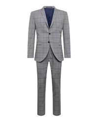 grauer Anzug mit Karomuster von Selected Homme