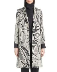 grauer bedruckter Mantel
