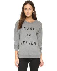 grauer bedruckter Oversize Pullover von South Parade
