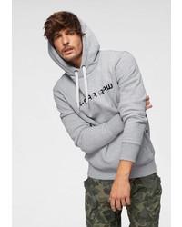 grauer bedruckter Pullover mit einem Kapuze von G-Star RAW
