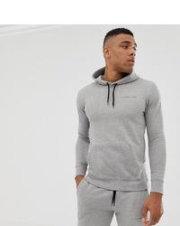 grauer bedruckter Pullover mit einem Kapuze von Good For Nothing