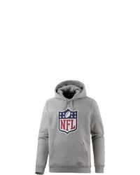 grauer bedruckter Pullover mit einem Kapuze von New Era