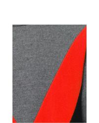grauer bedruckter Pullover mit einem Rundhalsausschnitt von AMI Alexandre Mattiussi