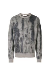 grauer bedruckter Pullover mit einem Rundhalsausschnitt von Golden Goose Deluxe Brand