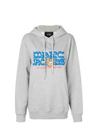 grauer bedruckter Pullover mit einer Kapuze von Marc Jacobs