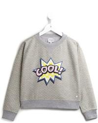 grauer bedruckter Pullover von Armani Junior