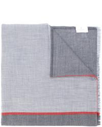 grauer bedruckter Schal von Brunello Cucinelli