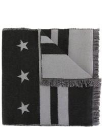 grauer bedruckter Schal von Givenchy