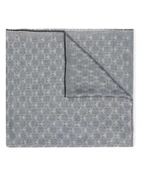 grauer bedruckter Schal von Moschino