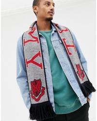 grauer bedruckter Schal von Tommy Jeans