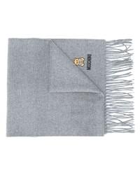 grauer bestickter Schal von Moschino