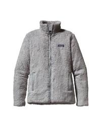 grauer Fleece-Pullover mit einem Reißverschluß