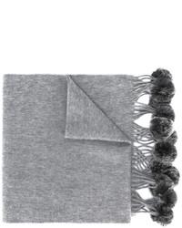 grauer geflochtener Pelzschal von N.Peal