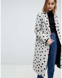 grauer gepunkteter Mantel