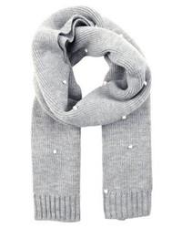 grauer gepunkteter Schal von Pieces