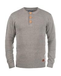 grauer Henley-Pullover von BLEND