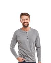 grauer Henley-Pullover von ENGBERS