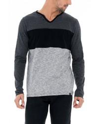 grauer Henley-Pullover von SALSA
