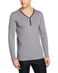 grauer Henley-Pullover von Tom Tailor Denim