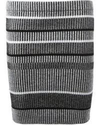 grauer horizontal gestreifter Minirock von Alexander Wang