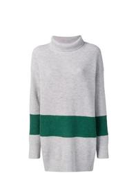 grauer horizontal gestreifter Oversize Pullover von Calvin Klein