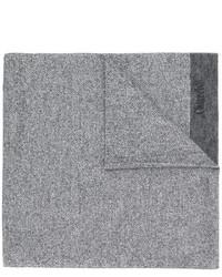 grauer horizontal gestreifter Wollschal von Church's
