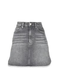 grauer Jeans Minirock von Calvin Klein Jeans