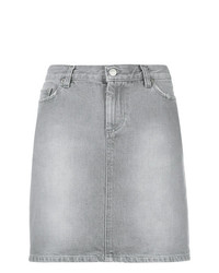 grauer Jeans Minirock von Helmut Lang Vintage