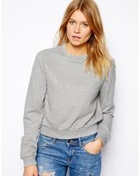 grauer kurzer Pullover von Asos