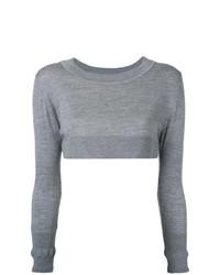 grauer kurzer Pullover von Nehera