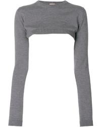 grauer kurzer Pullover von No.21