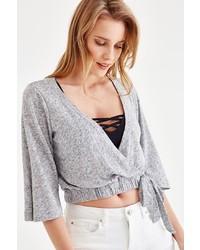 grauer kurzer Pullover von OXXO